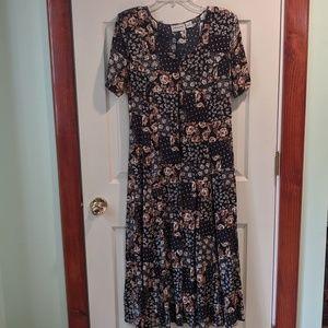 Long dress with crisscross tie in back